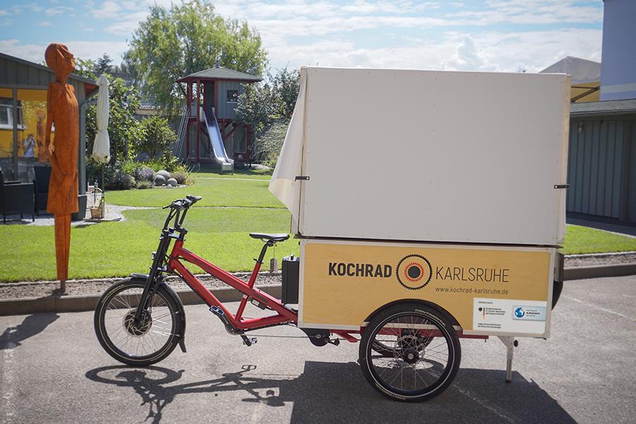 Das Kochrad Karlsruhe gepackt und verstaut